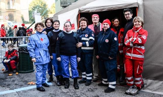 Volontari CRI al Carnevale di Ivrea