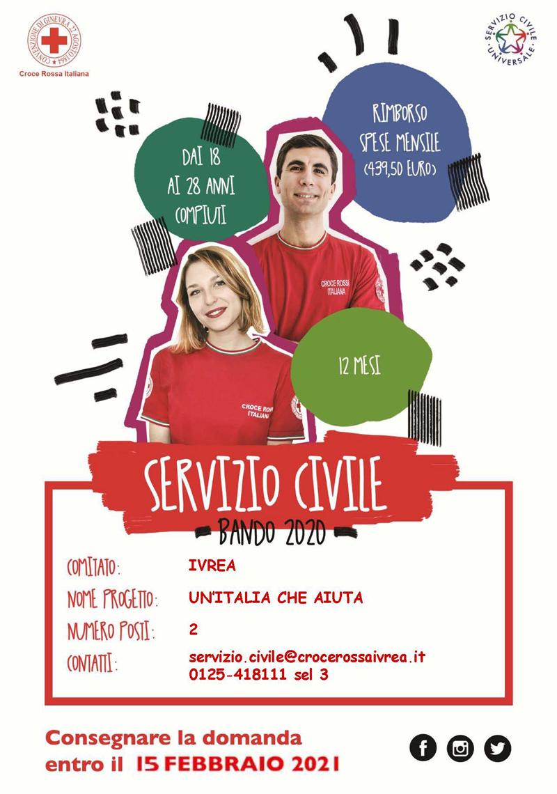 Servizio Civile Universale nella Croce Rossa Italiana, Bando 2020-2021