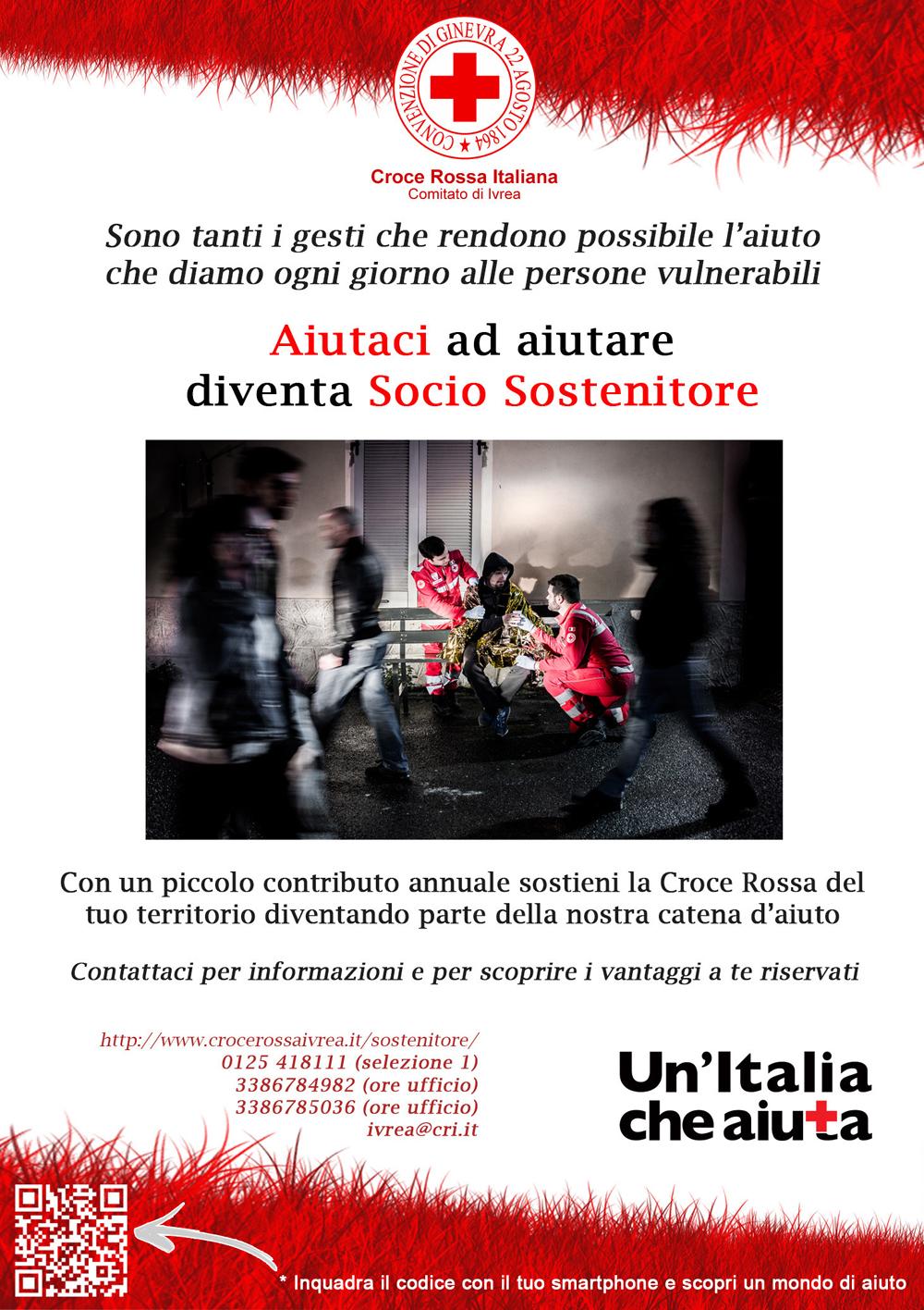 Diventa Ssocio Sostenitore della Croce Rossa Italiana