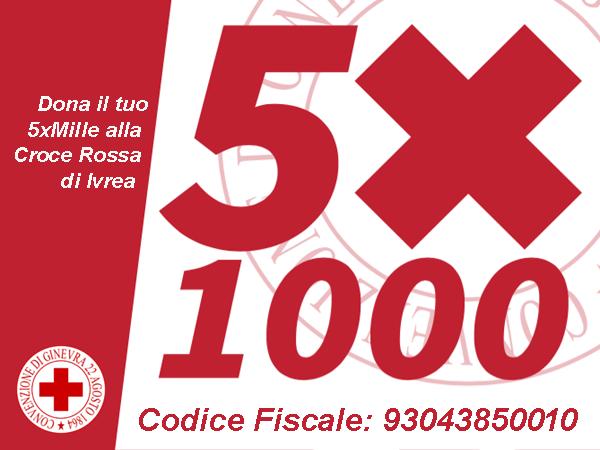 5x1000 alla Croce Rossa di Ivrea